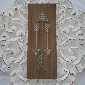 Turquiose & white Arrow string art wall decor